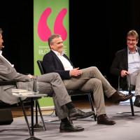 lit.COLOGNE 2018: Boris Palmer, Axel Hacke und Jürgen Wiebicke (v.l.n.r.) reden über den Anstand in schwierigen Zeiten. © Ast/Jürgens