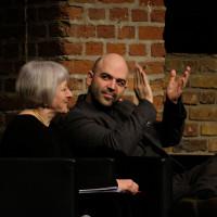 lit.COLOGNE 2018: Paola Barbon mit Autor Roberto Saviano. © Ast/Jürgens