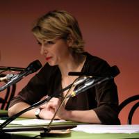 lit.COLOGNE 2018: Moderatorin Sabine Heinrich beim WDR 5 Literaturmarathon. © Ast/Jürgens