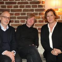 lit.COLOGNE 2018: Daniel Haas, Michel Faber und Suzanne von Borsody (v.l.n.r.). © Ast/Jürgens