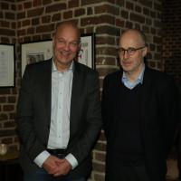 lit.COLOGNE 2018: Jens Henrik Jensen (l.) mit Moderator Daniel Haas. © Ast/Jürgens
