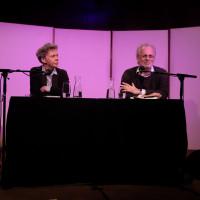 lit.COLOGNE 2018: Esther Kinsky mit Moderator Hubert Winkels. © Ast/Jürgens