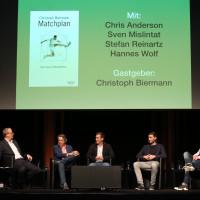 lit.COLOGNE 2018: Christoph Biermann, Chris Anderson, Hannes Wolf, Stefan Reinartz und Sven Mislintat (v.l.n.r.). © Ast/Jürgens