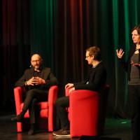 lit.COLOGNE 2018: Die Veranstaltung mit Heinrich Steinfest wurde in Gebärdensprache übersetzt. © Ast/Jürgens