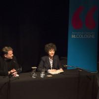 lit.COLOGNE 2018: Sasha Marianna Salzmann mit Moderator Ulich Noller. © Ast/Jürgens