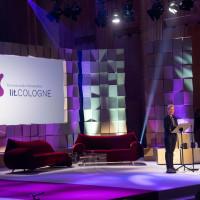 lit.COLOGNE 2018: Cordula Stratmann eröffnet die lit.COLOGNE 2018 im Rahmen des Deutschen Hörbuchpreises im WDR Funkhaus. © Manfred Linke