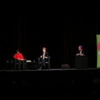 lit.COLOGNE 2019: Margarete von Schwarzkopf, Tana French und Ulrich Noethen © Ast/Juergens