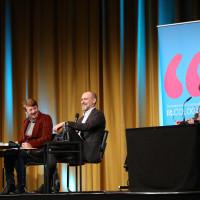 lit.COLOGNE 2019: Margarete von Schwarzkopf, Simon Beckett und Gerd Köster © Ast/Juergens