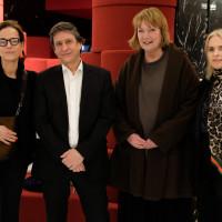 lit.COLOGNE 2019: Claudia Michelsen, Joachim Scholl, Carmen Korn, Annette Hess (v.l.n.r.) © Ast/Juergens