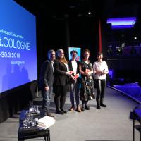 lit.COLOGNE 2019: Debütpreis / Frank Bender (RheinEnergie), Giulia Becker, Anselm Oelze, Helene Bukowski, Monika Schärer ©Ast/Juergens