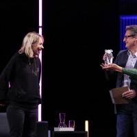 "lit.COLOGNE 2021 Digital: 30.05. ""Debütpreis"": v.l. Anna Brüggemann, Frank Bender / RheinEnergie, Monika Schärer / ©lit.COLOGNE/Ast/Juergens"