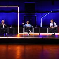 """lit.COLOGNE 2021 Digital: 31.05. """"Moria - und weiter?"""": v.l. Jean Asselborn, Isabel Schayani, Gerald Knaus / ©lit.COLOGNE/Ast/Juergens"""