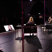 "lit.COLOGNE 2021 Digital: 05.06. ""lit.ComingOfAge: UTOPIA vs. DYSTOPIA - Wie blickt die Generation Z in die Zukunft?"": v.l. Luisa Neubauer, Lea-Lina Oppermann, Mona Ameziane, Farah Schäfer / ©lit.COLOGNE/Ast/Juergens"