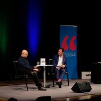 lit.COLOGNE Spezial 2018: Timur Vermes, Roberto Cappelluti und Gerd Köster (v.l.n.r.) © Ast/Juergens